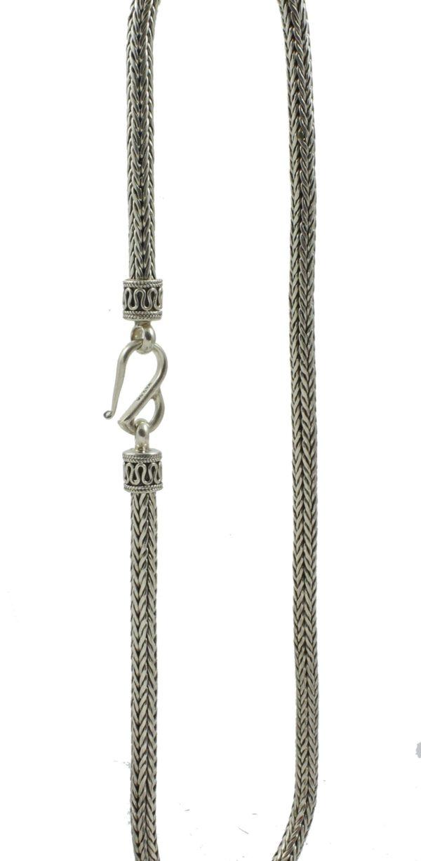 cadena plata serpiente shadisilver