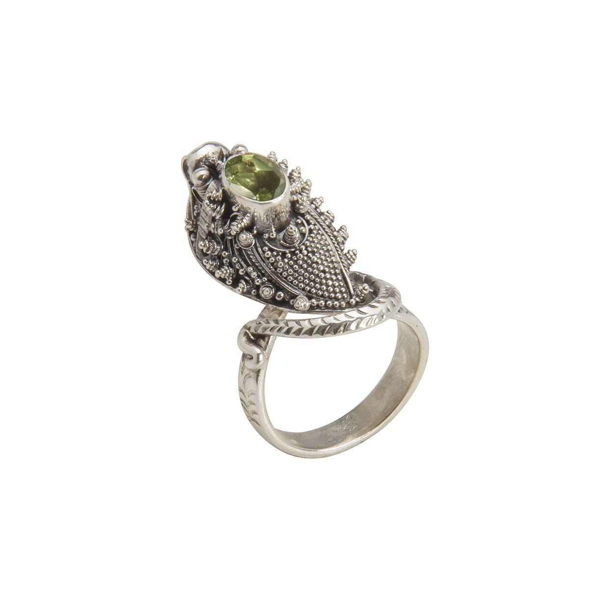 anillo de plata serpiente con peridoto lateral shadisilver.jpg
