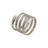 anillo de plata con forma de serpiente shadisilver