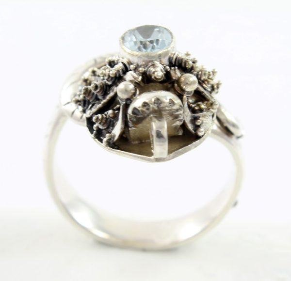 anillo-de-plata-serpiente-y- topacio-azul-frontal-shadisilver