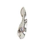 colgante plata con perla mabe malva lateral shadisilver