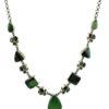 collar de plata de ley jade peridoto granate shadisilver