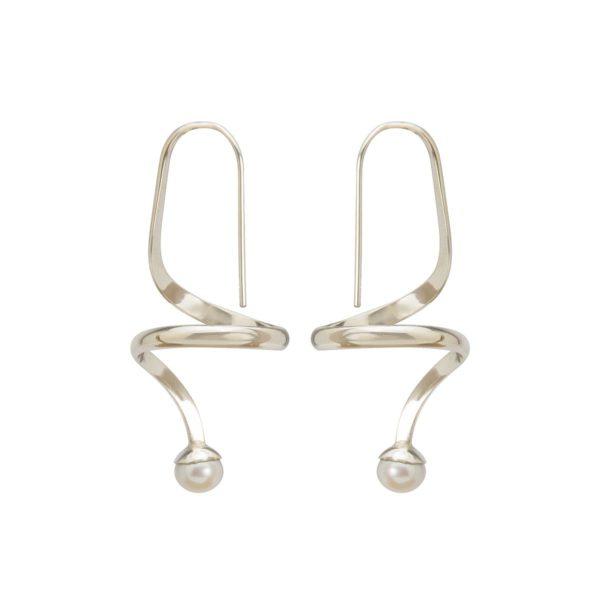 pendientes de plata y perlas shadisilver