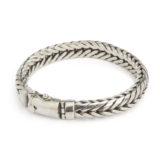 pulsera de plata estilo serpiente shadisilver