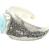 Brazalete ajustable de plata Shadisilver