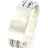 anillo de plata oxidada frontal shadisilver