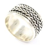 anillo de plata oxidada shadisilver