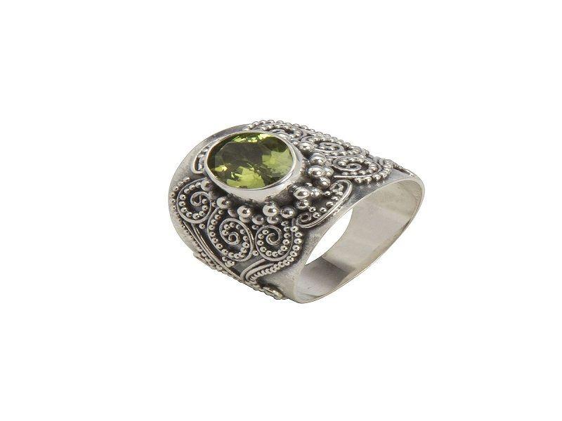 piedra de peridoto 2 -shadi silver