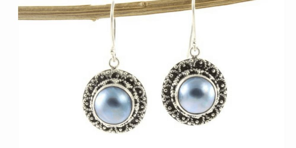 pendientes-Pendientes en plata de ley con perlas-shadisilver.com