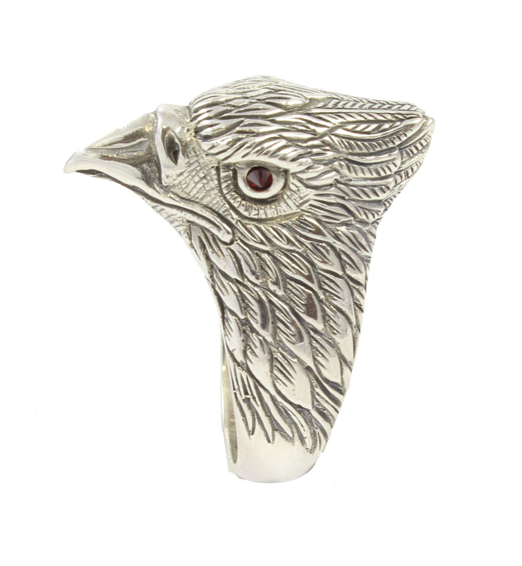 Halcón anillo de plata de ley Shadisilver
