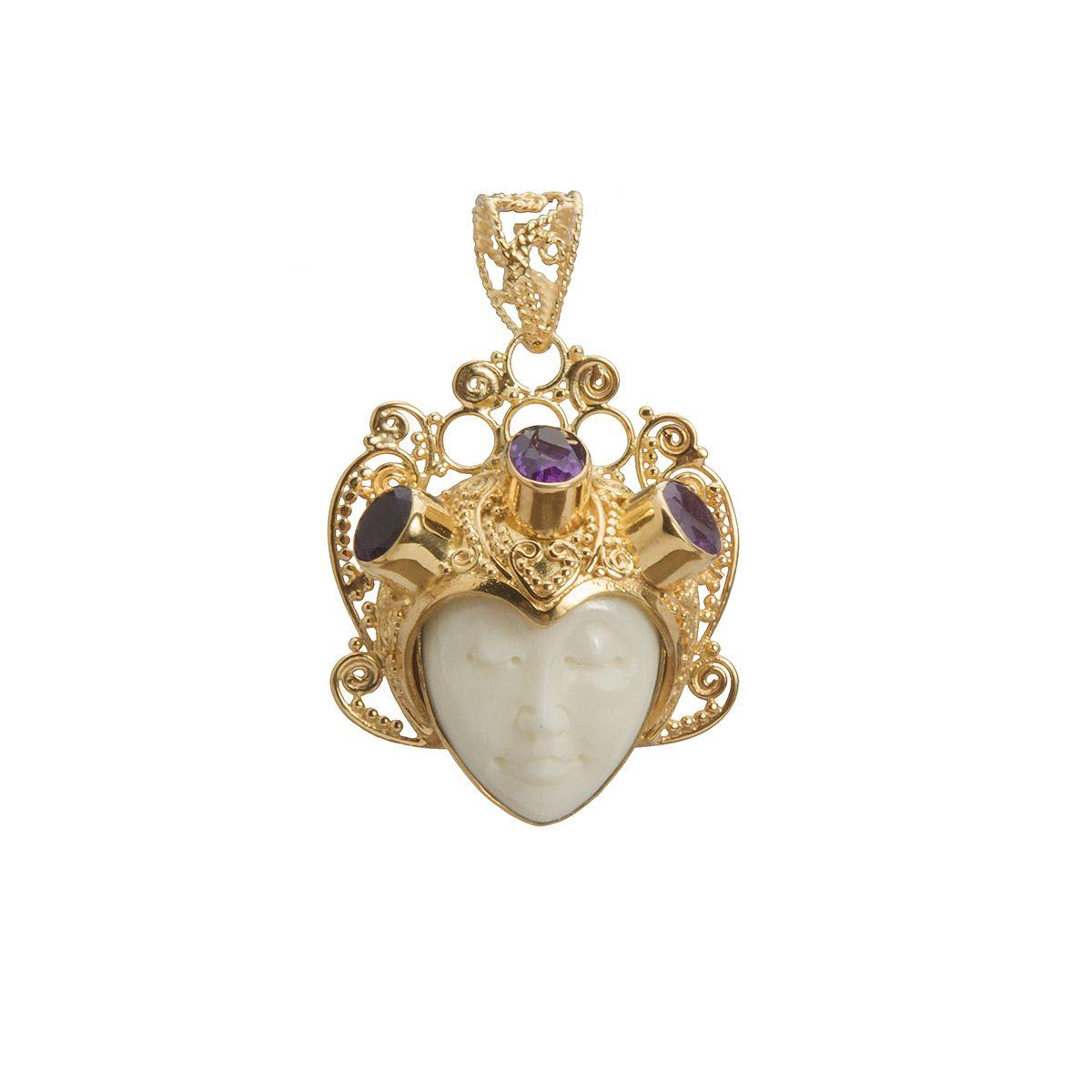 colgante de plata y oro shadisilver