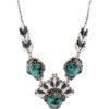 Collar de plata con turquesas y circonitas Shadisilver