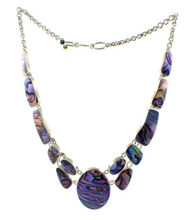Collar de plata y abalone Shadisilver