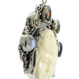 Colgante de plata cara de Buda Shadisilver