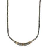 Collar de plata de ley y oro Shadisilver
