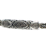 Pulsera de plata eslabones bizantinos