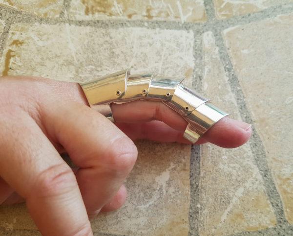 Anillo articulado de plata Shadisilver