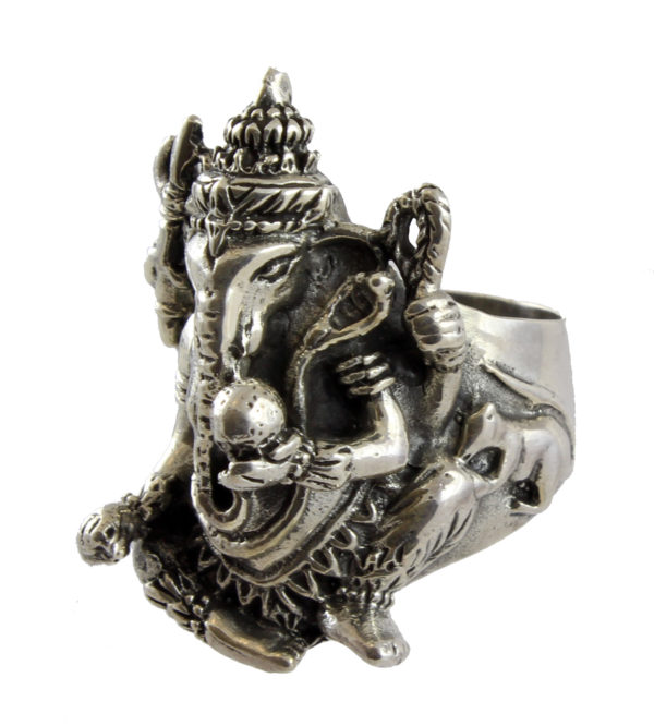 Anillo de plata de ley con figura de Ganesha Shadisilver