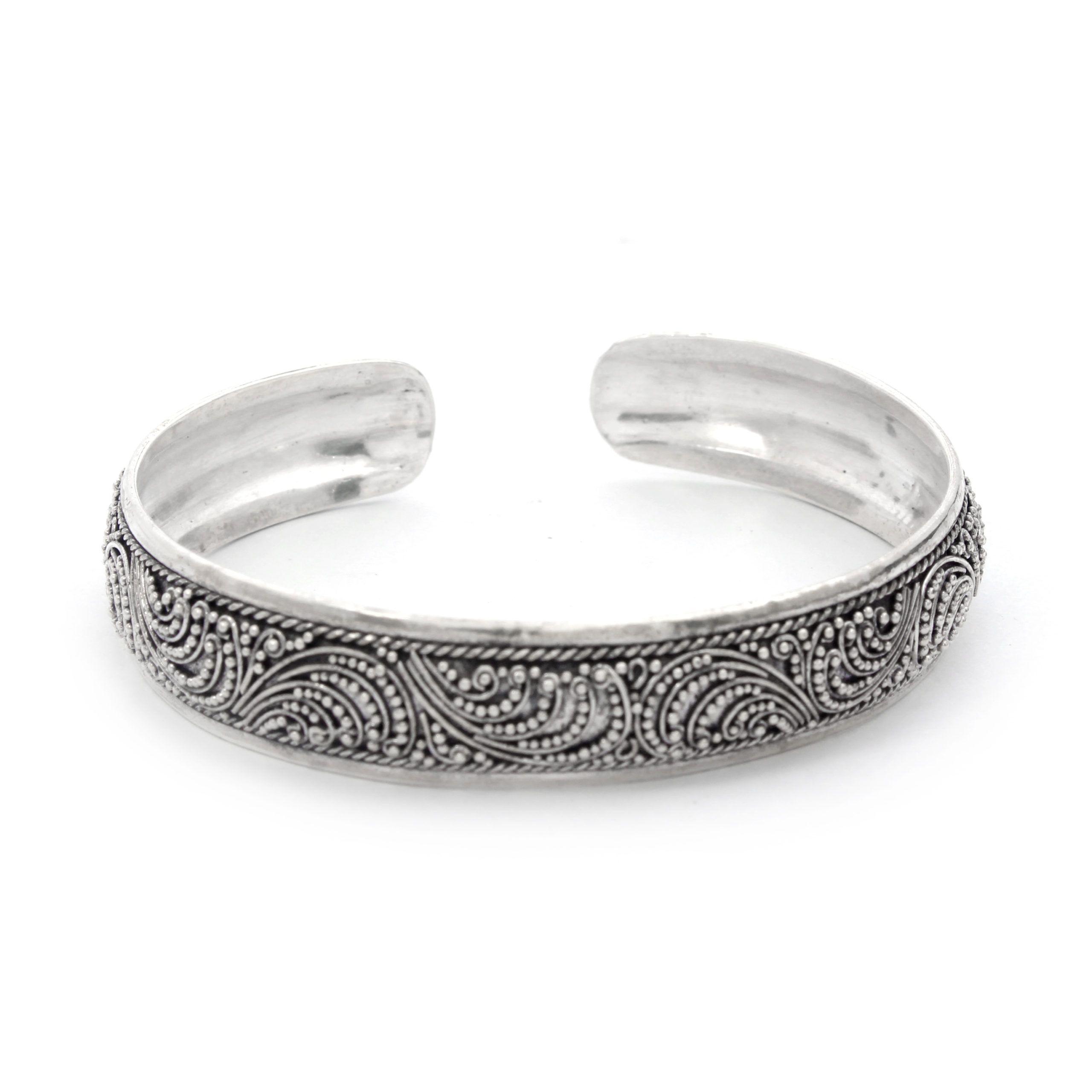 Brazalete plata 925 grabado a mano Shadi